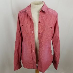 Lucky Brand Red Chambray shirt